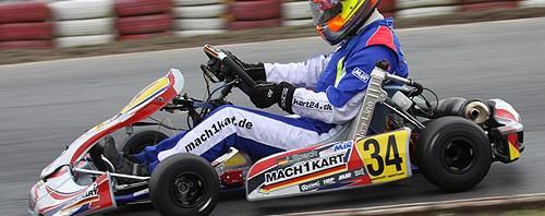 Lucas Speck bei den ADAC Kartmasters in Wackersdorf mit Mach1 Kart