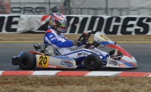 Odrhan Henry at the Lonato Winter Cup with Mach1 Kart