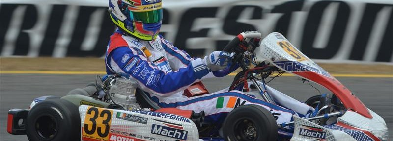 John Norris with Mach1 Kart at the Winter Cup Lonato