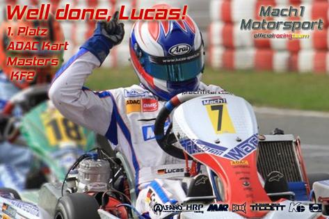Lucas Speck bei den ADAC Kart Masters mit Mach1 Kart