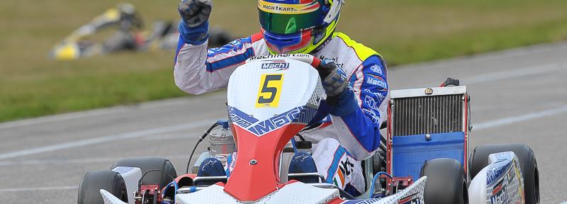 John Norris bei der DKM in Genk mit Mach1 Kart