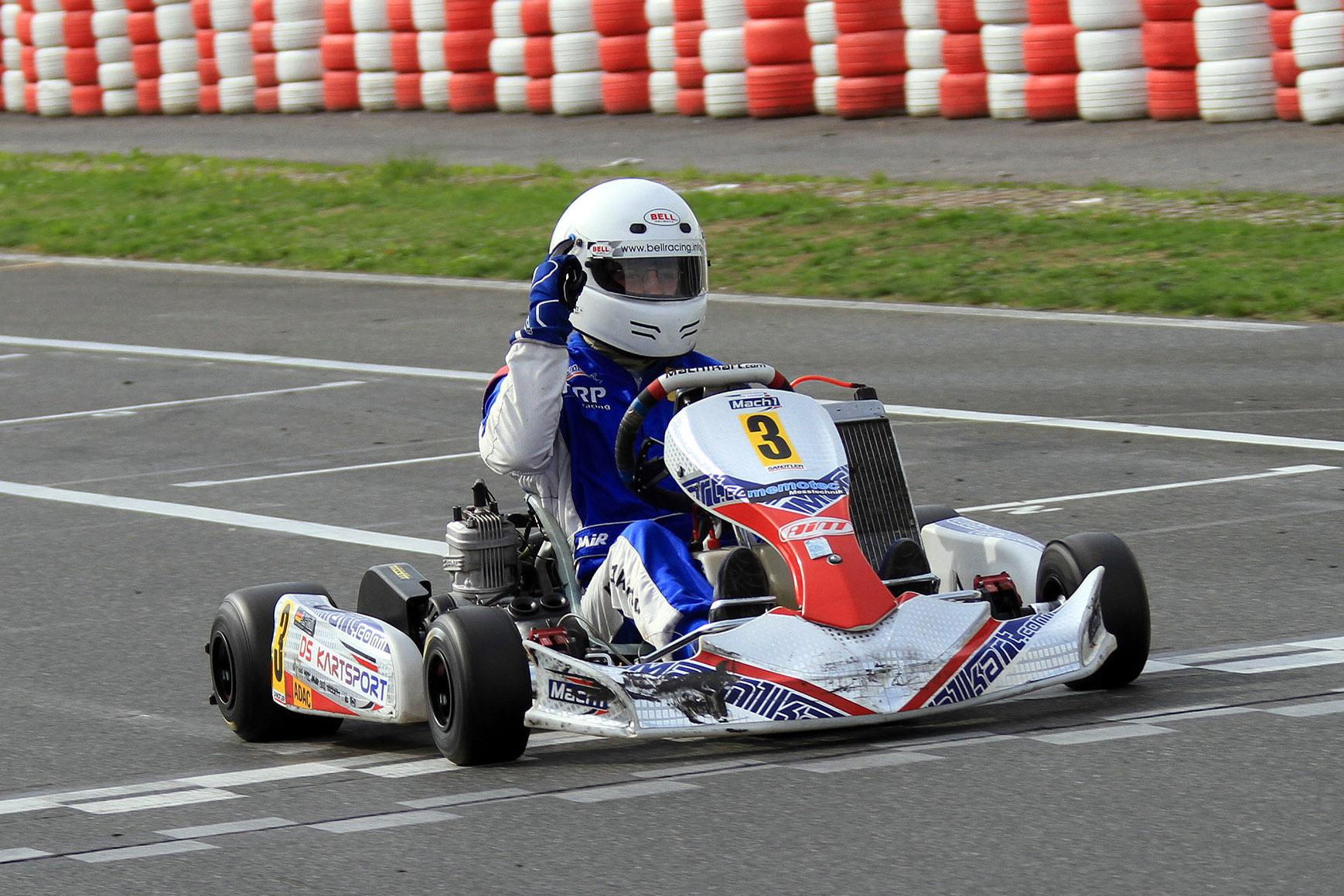Alexander Heil mit Mach1 Kart bei den ADAC Kartmasters