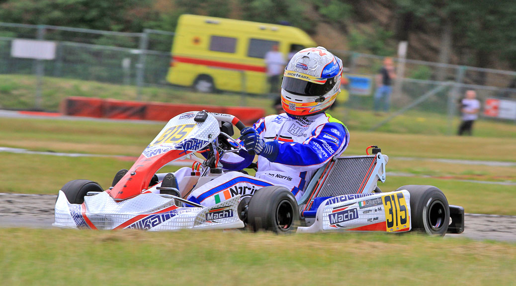 John Norris mit Mach1 Kart bei der CIK Europameisterschaft