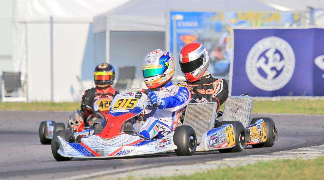 John Norris mit Mach1 Kart bei der Kart EM in Schweden