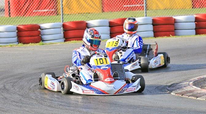 Marco Forrer und Marcel Schultheiß mit Mach1 Kart bei den ADAC Kartmasters