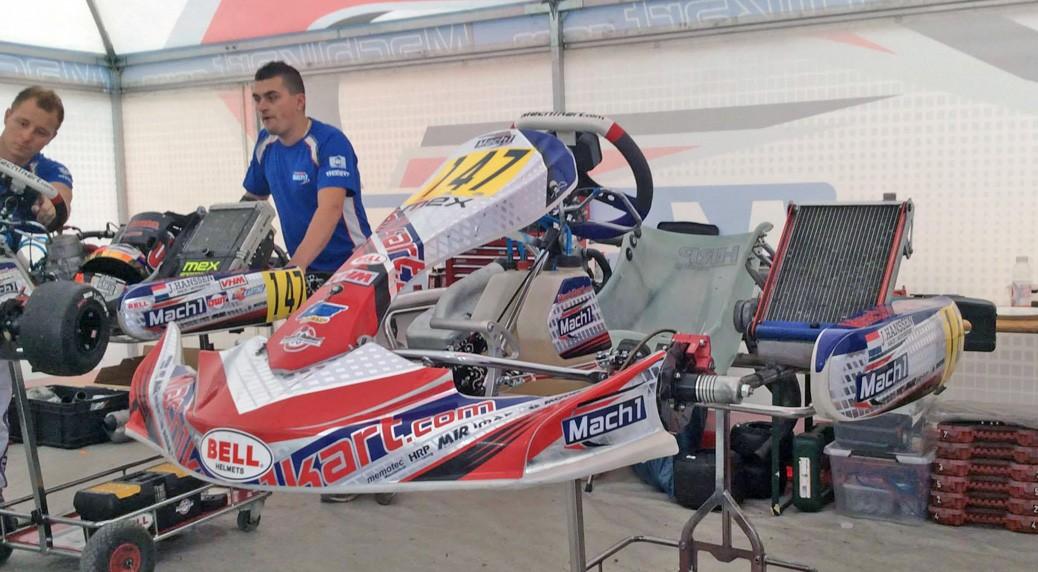 Joey Hanssen with Mach1 Motorsport at the CIK/FIA World Cup