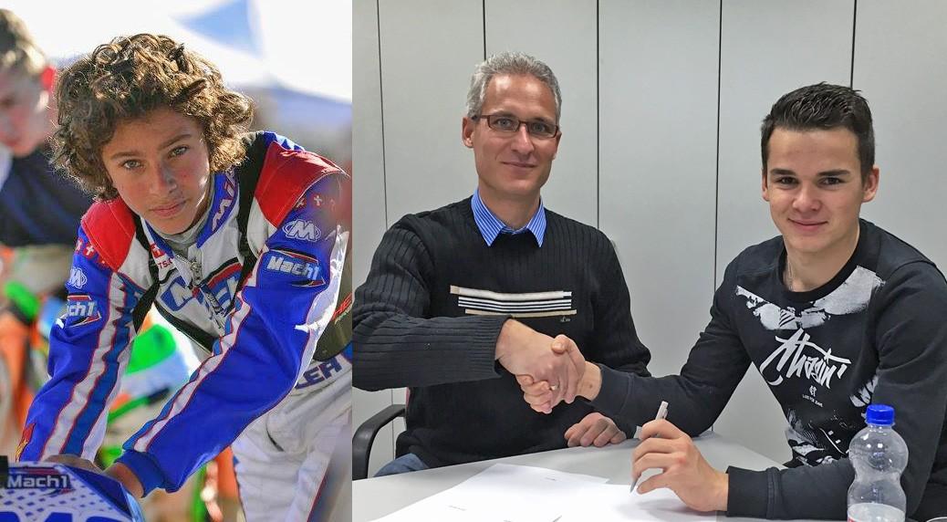 Cameron Boedler und Jordi van Moorsel bei Mach1 Kart